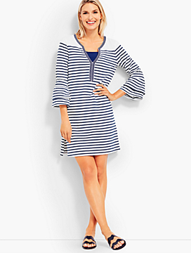 Bell-Sleeve Cover-Up-Stripe