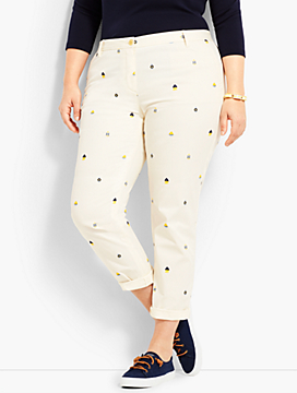 Girlfriend Chino-Nautical Print
