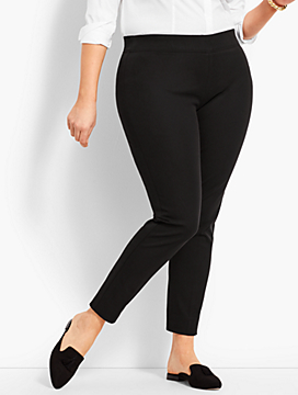 Bi-Stretch Pull-On Skinny Ankle Pant