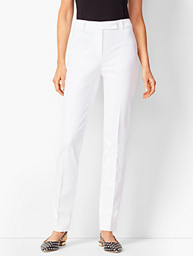 Bi-Stretch High-Waist Straight-Leg Pant