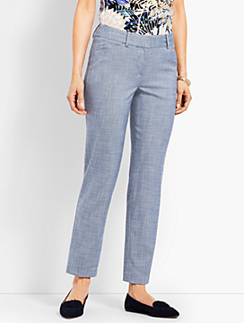Talbots Hampshire Ankle Pant - Chambray
