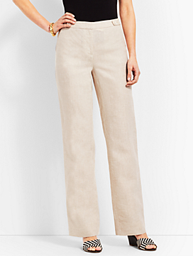 Talbots Windsor Linen Wide-Leg Pant