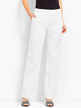 Talbots Windsor Linen Wide-Leg Pant - Lined