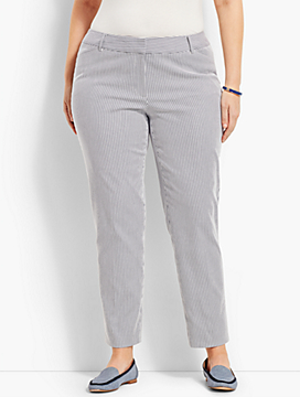 Talbots Hampshire Ankle Pant - Stripe