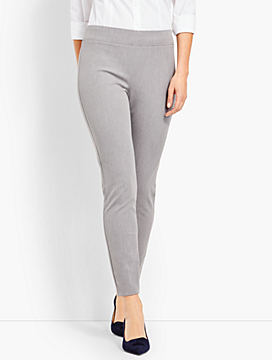 Melange Bi-Stretch Pull-On Skinny Ankle