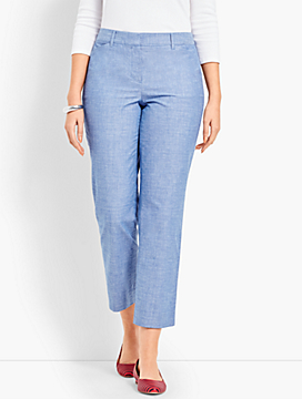 The Perfect Crop - Curvy Fit/Chambray