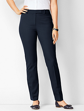 Bi-Stretch High-Waist Straight-Leg Pants - Curvy Fit