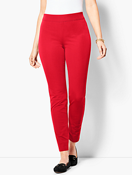 Bi-Stretch Pull-On Skinny Ankle Pants - Curvy Fit