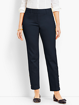 Talbots Hampshire Ankle Pant - Curvy Fit/Button-Cuff