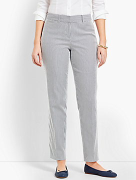 Talbots Hampshire Ankle Pant - Curvy Fit/Stripe