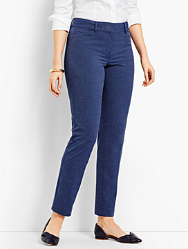 Talbots Hampshire Ankle Pant - Curvy Fit/Heathered