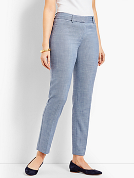 Talbots Hampshire Ankle Pant - Curvy Fit/Chambray