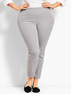 Melange Bi-Stretch Pull-On Skinny Ankle - Curvy Fit