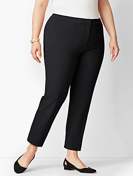 Plus Size Exclusive Talbots Hampshire Ankle Pants - Solid