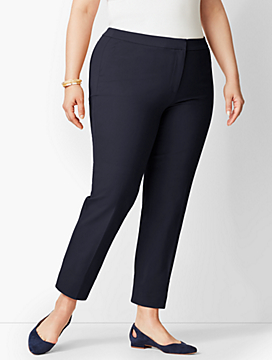 Womans Exclusive Talbots Cotton Bi-Stretch Hampshire Ankle Pant