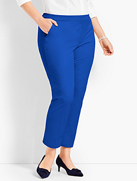 Plus Size Exclusive Talbots Hampshire Cotton Bi-Stretch Ankle Pant