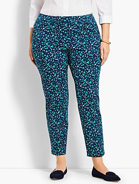 Plus Size Exclusive Talbots Hampshire Ankle Pant-Cascading Blossoms
