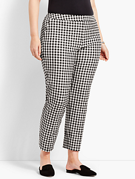 Plus Size Exclusive Talbots Hampshire Ankle Pant - Gingham