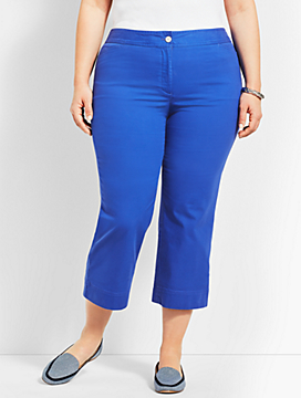 Plus Size Exclusive Talbots Chelsea Straight-Leg Crop