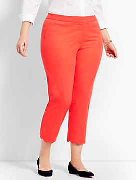 Plus Size Exclusive Talbots Hampshire Scallop Crop Pant