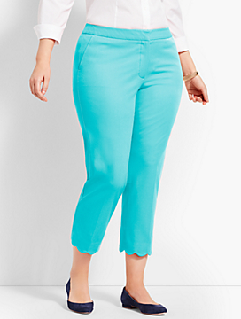 Womans Exclusive Talbots Hampshire Scallop Crop Pant
