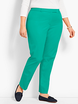 Womans Exclusive Talbots Hampshire Ankle Pant - Curvy Fit