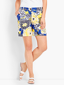 "7"" Girlfriend Chino Short-Pop Floral"
