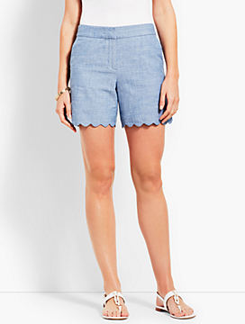 "5"" Scallop Short - Chambray"