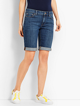 "9"" Denim Girlfriend Short-Sierra Wash"