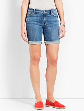 "7"" Denim Short-Stratton Wash"