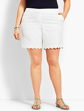 Plus Size Exclusive Scallop Short