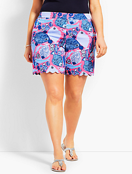 Womans Exclusive Scallop Short - Multi-Color Print