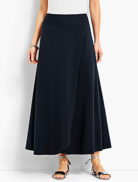Casual Jersey Maxi Skirt