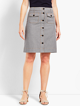 Railroad Stripe A-Line Skirt
