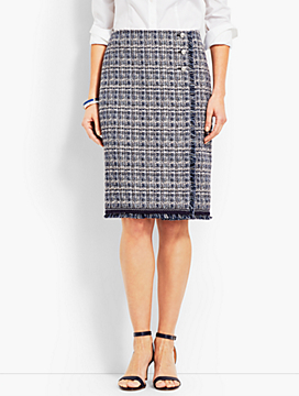 Tweed Wrap Skirt