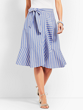 Ruffle Stripe Skirt