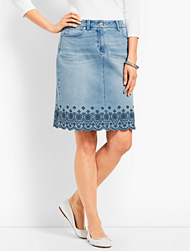 Denim Skirt - Reid Wash