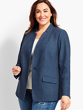 Notched-Collar Blazer