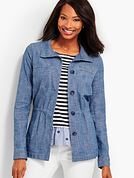 Twill Jacket-Chambray