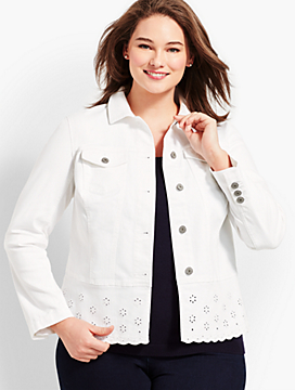 Peplum White Denim Jacket