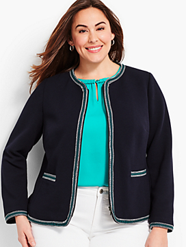 Braided-Trim Jacket