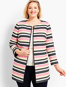 Plus Size Exclusive Multi-Stripe Topper