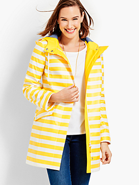 Classic Stripe Raincoat