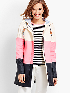 Colorblock Raincoat