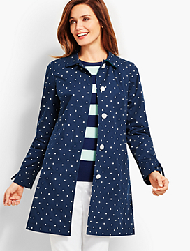 Dot-Print Cotton Mac