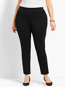 Womans Exclusive Knit Jersey Pull-On Ankle Pant