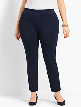 Womans Exclusive Knit Jersey Pull-On Pant