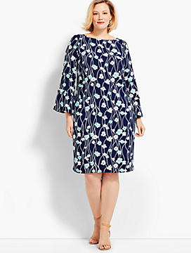 Print Blossoms Shift Dress