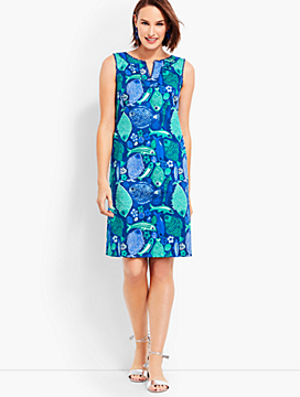 Under-the-Sea Textured Shift Dress