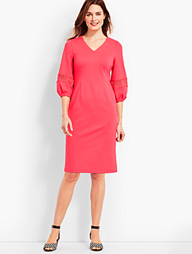 V-Neck Ponte Sheath